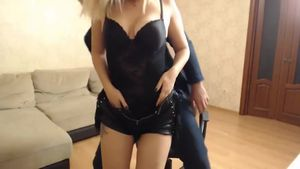 She Gives A Hot Blowjob After The Meeting