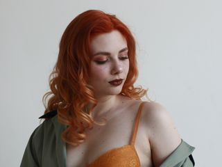 19 petite white female fire red hair blue eyes KatiMeow